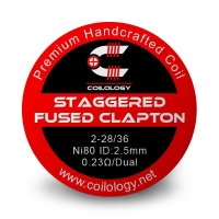 Coilology Staggered Fused Clapton Coil Ni80 0.23ohm